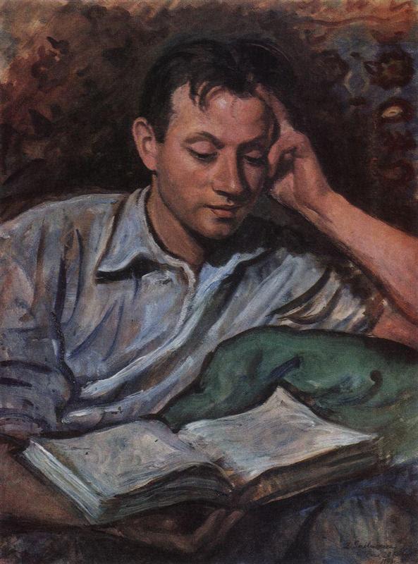 Αλέξανδρος Serebryakov, διαβάζοντας ένα βιβλίο  - Zinaida Serebriakova