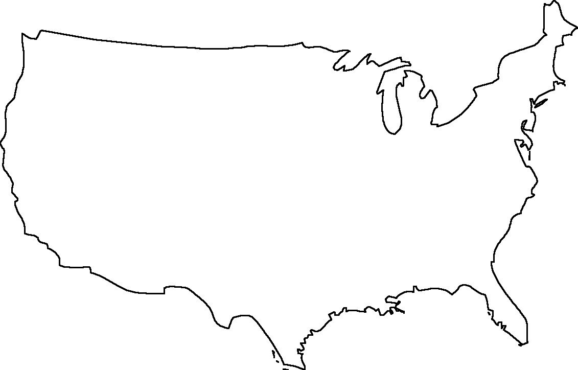 Printable Blank United States Map - ClipArt Best
