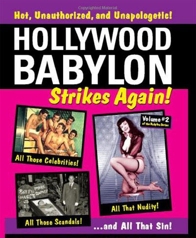 Portada de un libro de la serie Hollywood Babylon.