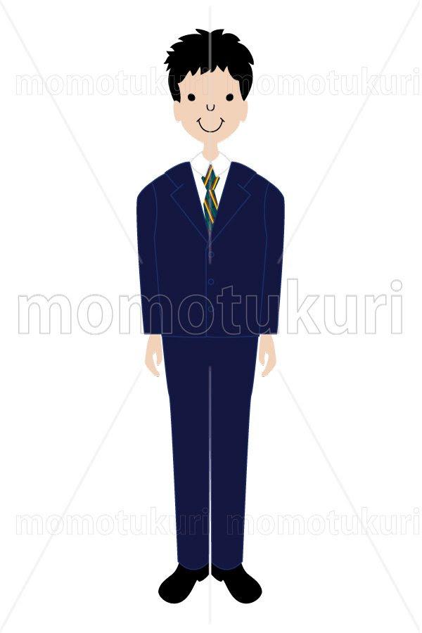 99円から390円素材sozai制服を着た男の子 中高生 女子高生