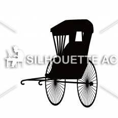 人力車シルエット イラストの無料ダウンロードサイトシルエットac