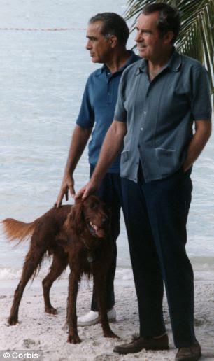 More personal scandal than Watergate? Richard Nixon with Bebe Rebozo at Key Biscayne, Florida