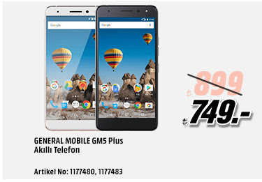 General Mobile GM5 Plus Akıllı Telefon 749TL