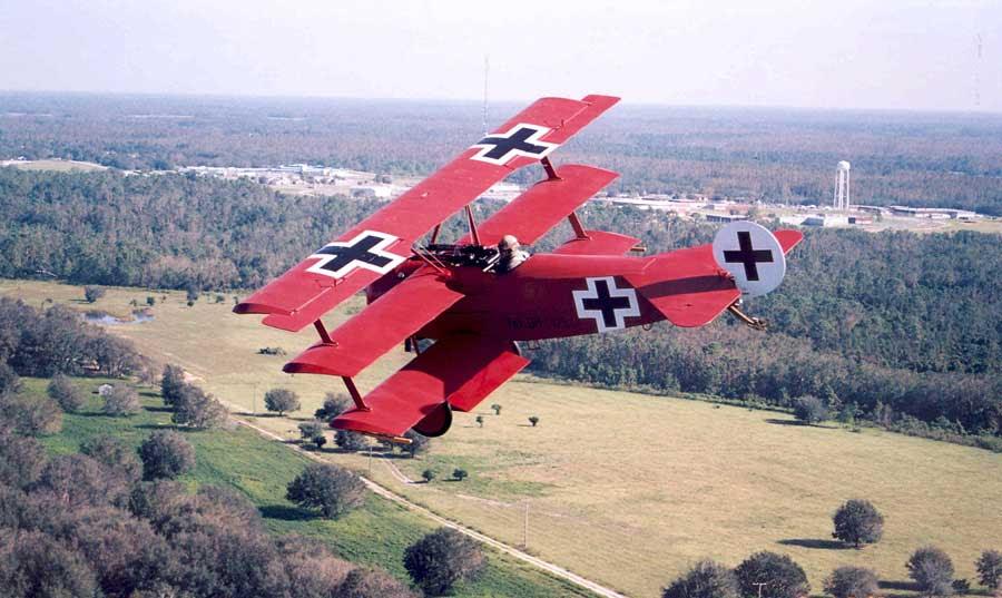 Reconstrucción del precioso Fokker triplano de Manfred Von Richthofen. Imagen de Anfrix.com