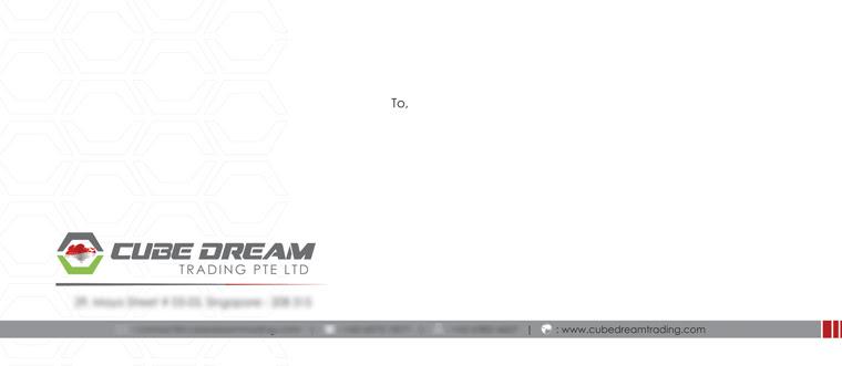 Letter Cover - Cube Dream Trading Pte Ltd