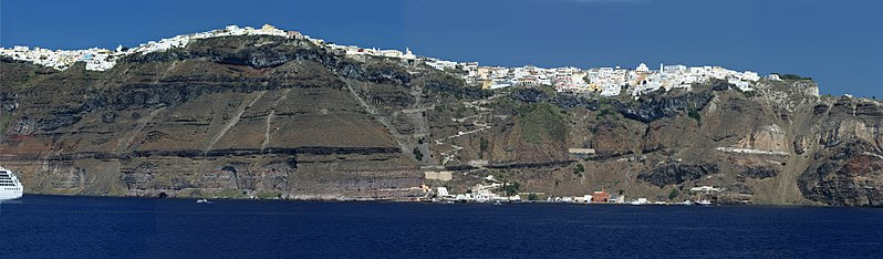 The edge of the volcanic caldera, Santorini