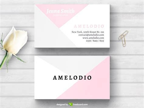 Pastel minimal fashion business card   Freebcard