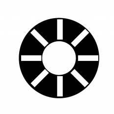 浮き輪シルエット イラストの無料ダウンロードサイトシルエットac