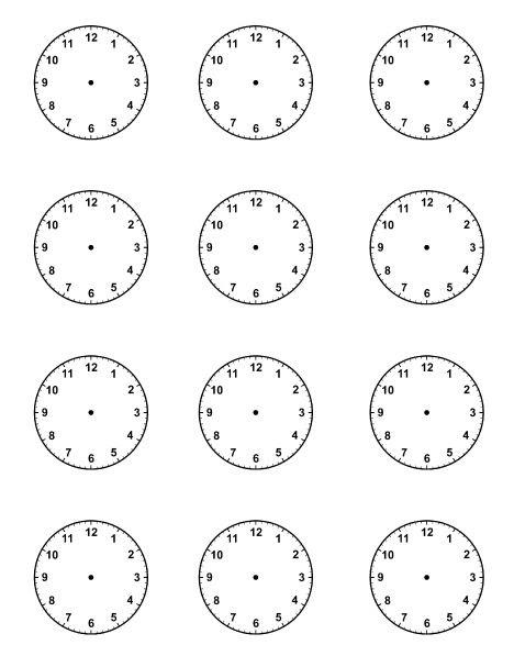 1000+ ideas about Blank Clock on Pinterest | Clock worksheets ...