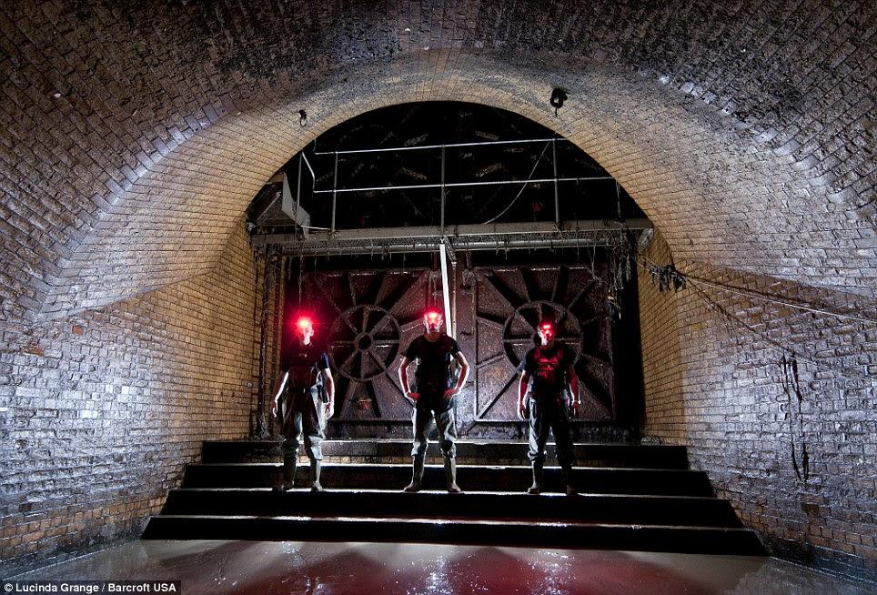 Mark Explo, Bradley Garrett and Luca Urban, descend beneath London to find the underground River Fleet in London