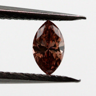 Fancy Deep Brownish Orangy Pink Diamond, Marquise, 0.12 carat