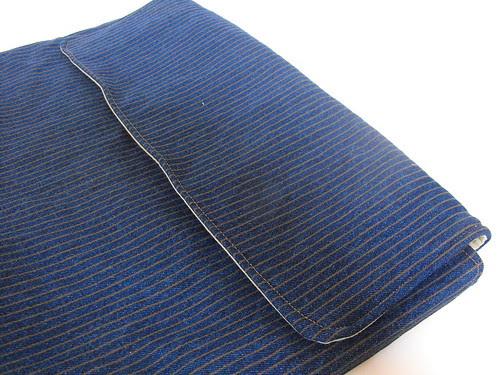 Classic Stripe Denim Laptop Sleeve