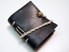 mini leather longstitch bound book