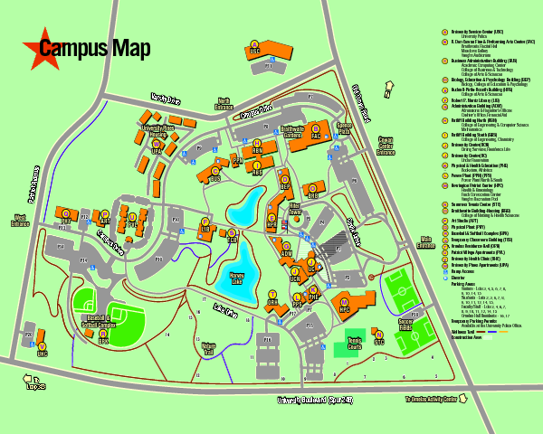 Sfasu Campus Map Sfasu Campus Map | World Map Gray