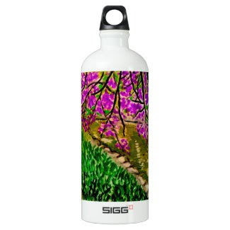 Cherry Blossom Landscape on SIGG Water Bottle SIGG Traveler 1.0L Water Bottle