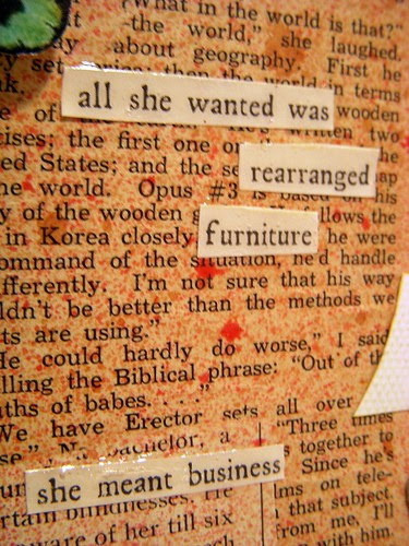 All She wanted....furniture