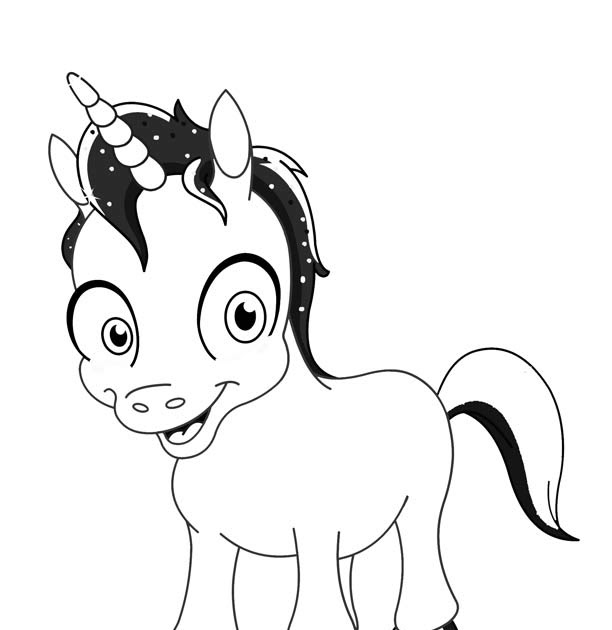 Emoji Adorable Unicorn Coloring Pages - Coloring Ideas