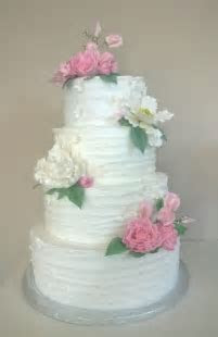 Pink And White Buttercream Wedding Cake.   CakeCentral.com