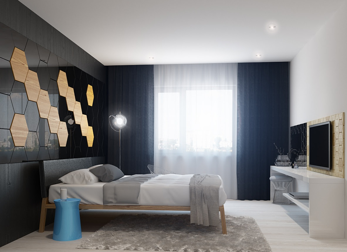 bedroom wall design  Interior Design  Ideas