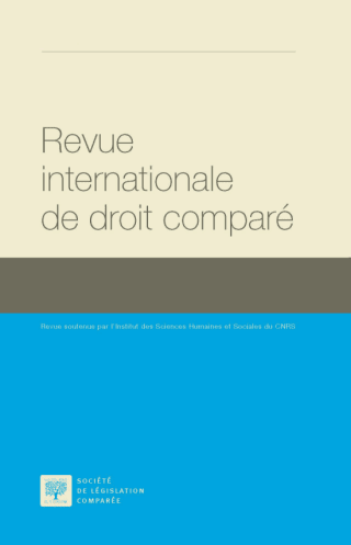 نتيجة بحث الصور عن ‪Revue internationale de droit comparé‬‏