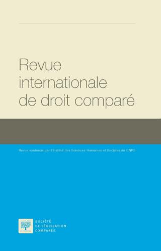 نتيجة بحث الصور عن Revue internationale de droit comparé