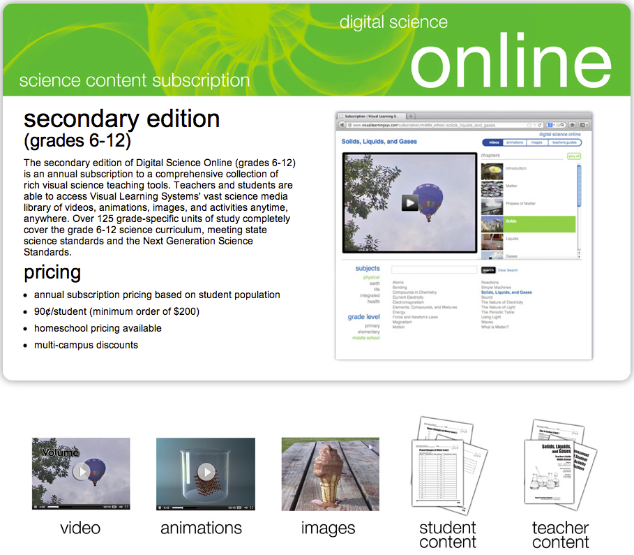 Unexpected Homeschool Review: Visual Learning Systems, Digital Science Online: Secondary Edition