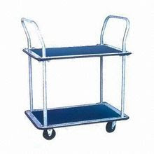 Two-shelf Service/Platform Hand Truck with 4-inch Caster Wheel and 120kg Capacity