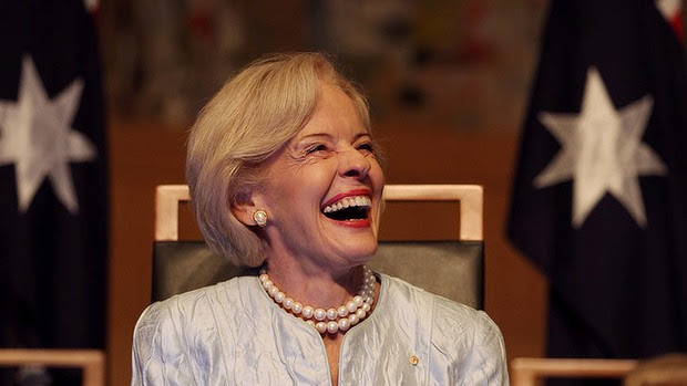 Outgoing Governor-General Dame Quentin Bryce, known for her good works.