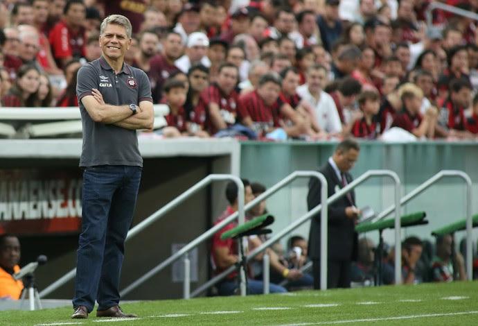 Atlético-PR, Arena da Baixada, Flamengo, Paulo Autuori (Foto: Giuliano Gomes/PR Press)