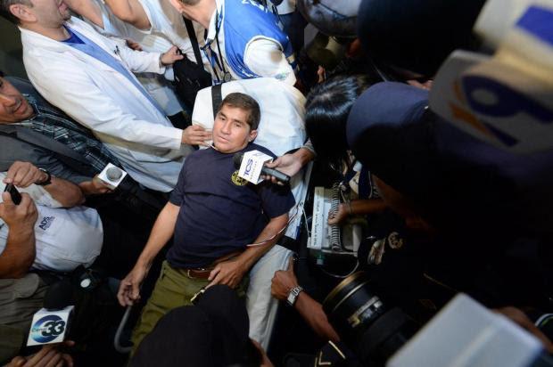 Náufrago salvadorenho volta a ser hospitalizado Marvin Recinos/AFP