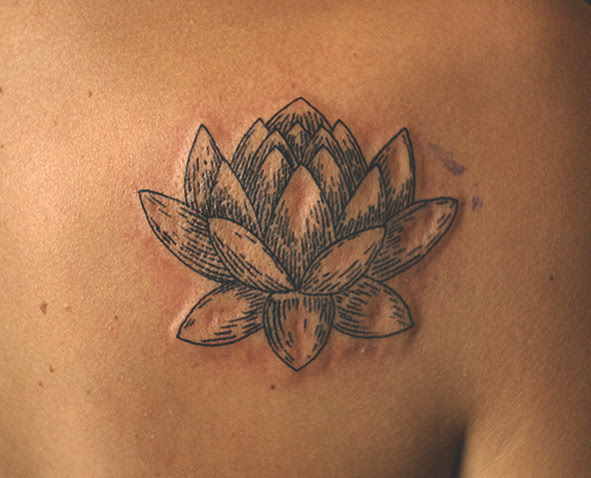 Lotus On Shoulder Blade Best Tattoo Design Ideas