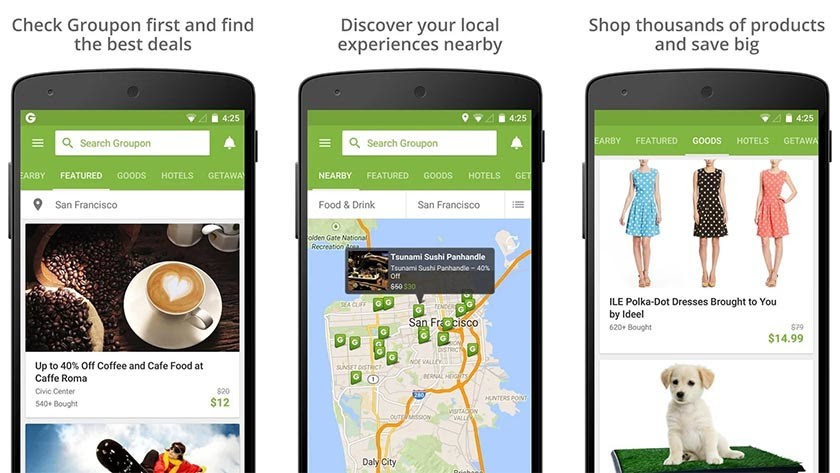 groupon best Android apps