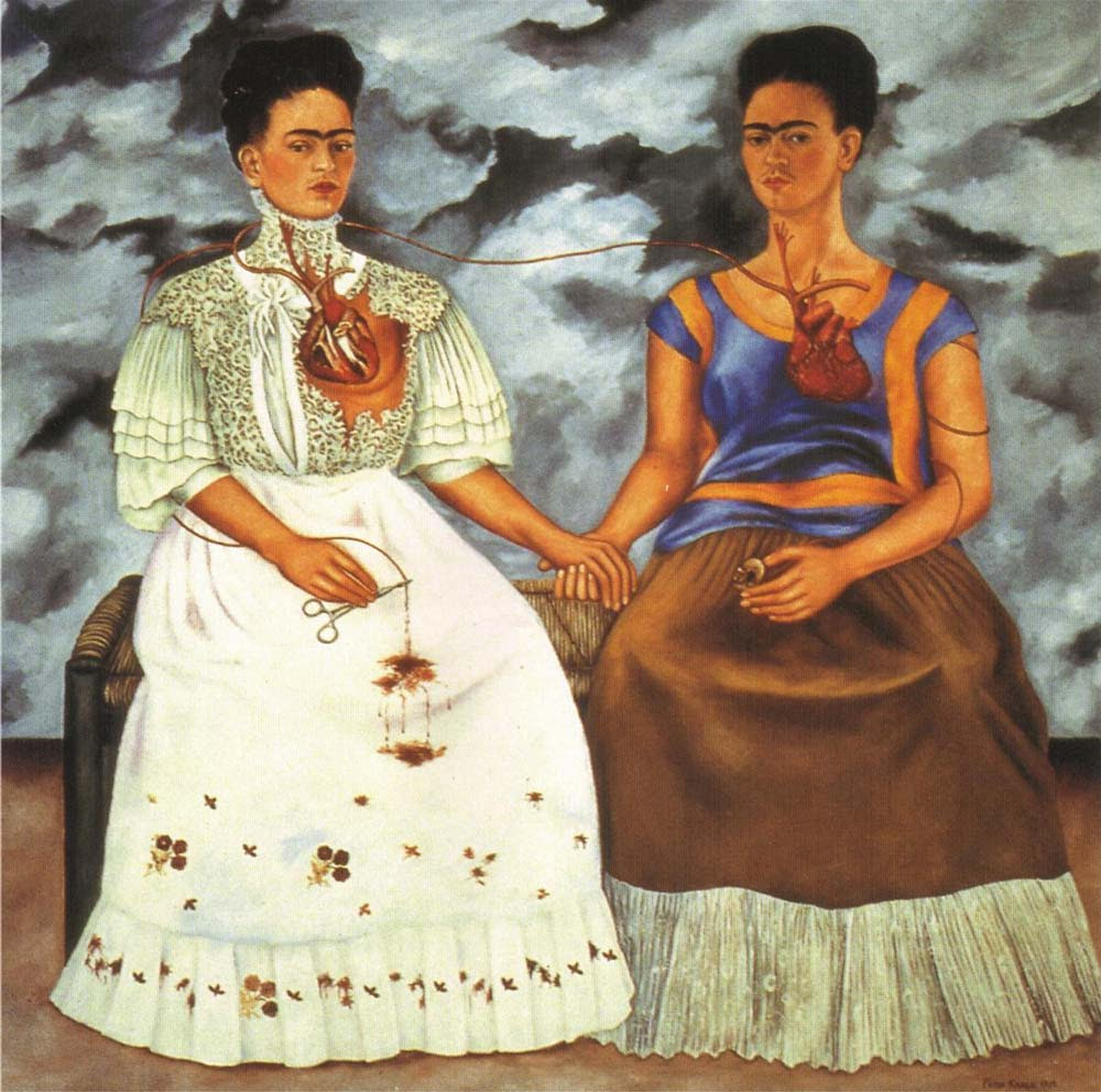 Image result for two fridas kahlo paintings