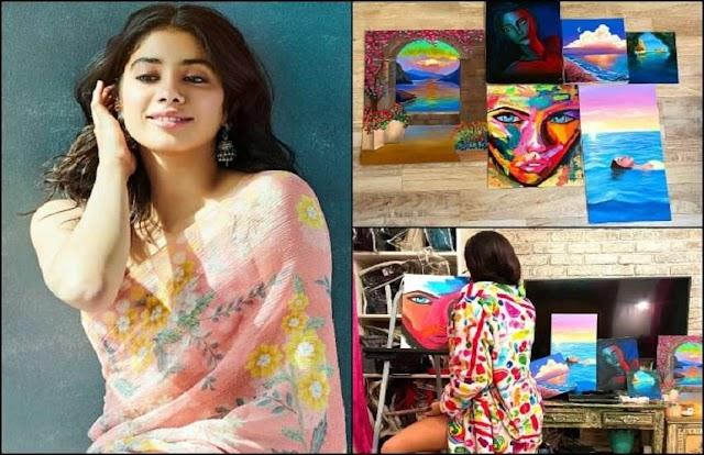 जान्हवी कपूर ने अपने नए हुनर से करवाया रूबरू, बनाई शानदार पेंटिंग्स