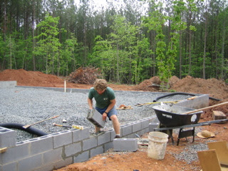 Laying Foundation For Shed