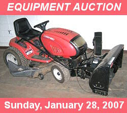 Equipment Auction, Sunday, January 28, 2007