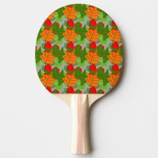 Autumn Leaves Ping Pong Paddle