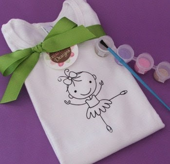 P.I.Y. (Paint It Yourself) BALLERINA TEE by Daisy Creek Designs
