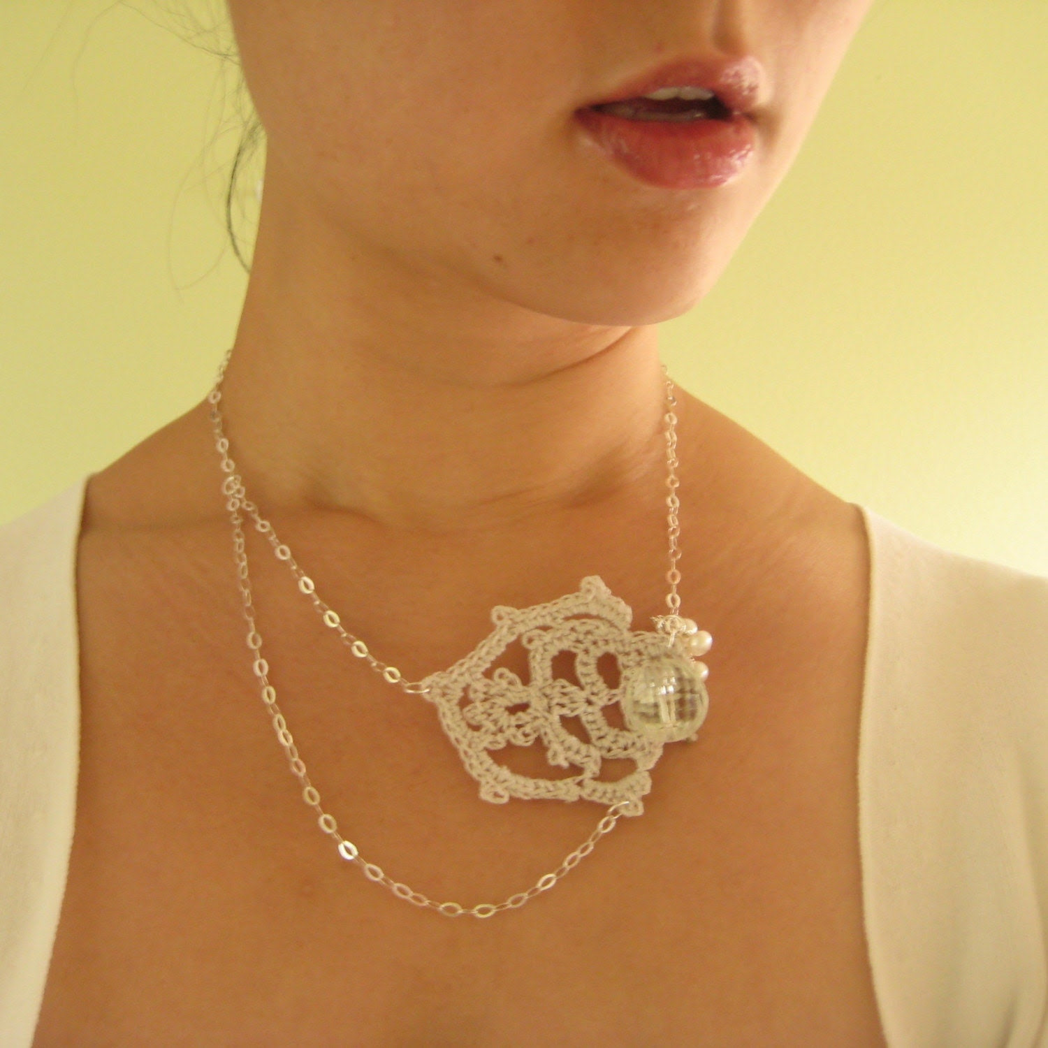 Finley Necklace (Sterling silver chain)