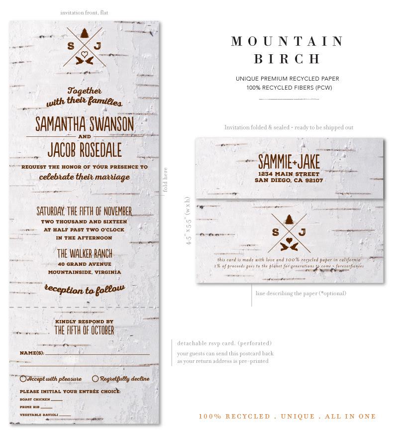 Mountain Birch Wedding Invitations