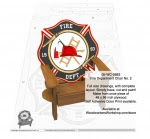 Adirondack Fire Department Chair No. 2 Full Size Woodworking Plan - fee plans from WoodworkersWorkshop® Online Store - firefighters,adirondack chairs,color prints,fire fighting,hoses,volunteer,yard art,painting wood crafts,scrollsawing patterns,drawings,plywood,plywoodworking plans,woodworkers projects,workshop bluepr
