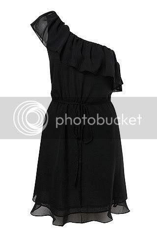 The Shoulder-less Black Dress