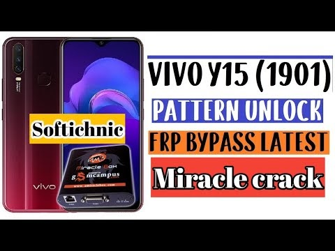 vivo y15(1901)format screen lock pin miracle crack by softichnic