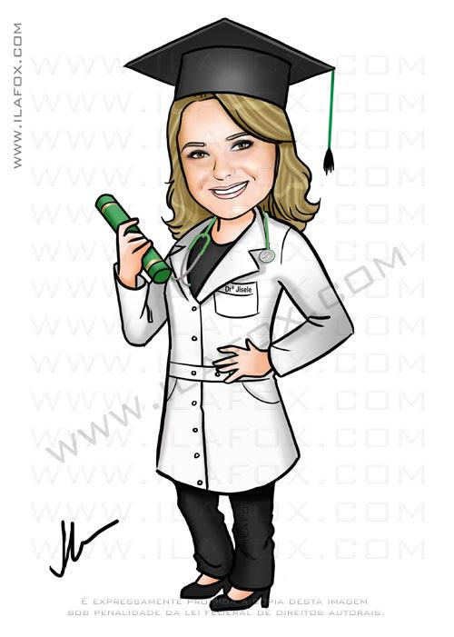 Caricatura formanda, formatura, caricatura medicina, by ila fox