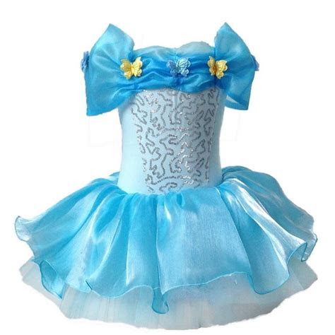 cinderella princess ballet lace tutu butterfly blue dance