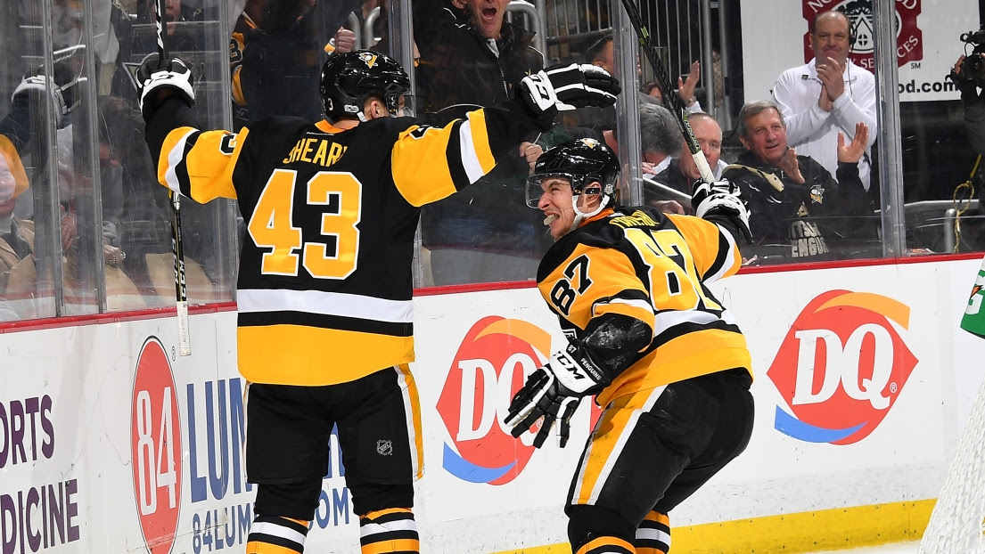 Conor Sheary et Sidney Crosby
