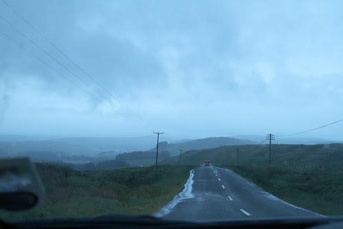 Dusk in Scottish borders