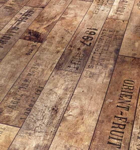 Deck floor? Yes-maybe by the sea. Re-pin: Old wooden crates for flooring.  Brilliant!