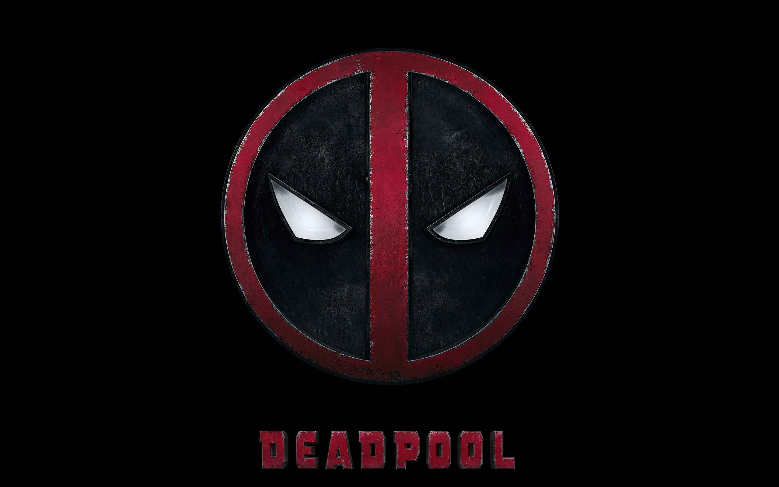 Ap49 Deadpool Logo Dark Art Hero Wallpaper