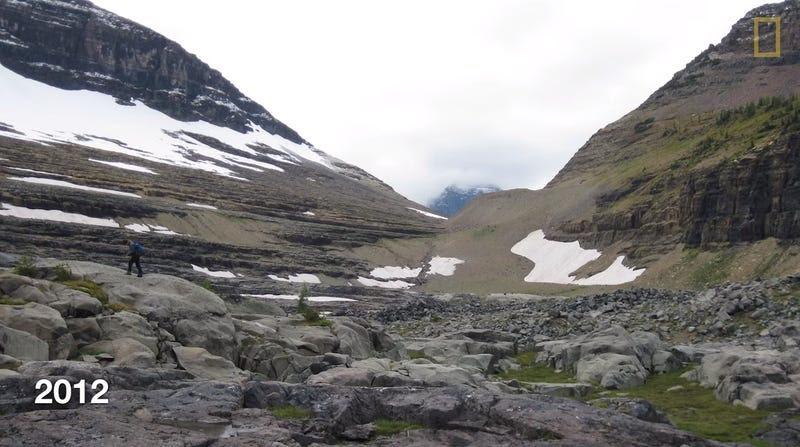 Estas fotos muestran los glaciares antes y después del calentamiento global
